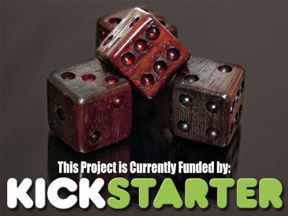 Kickstarter Founding Seite für Artisan Dice