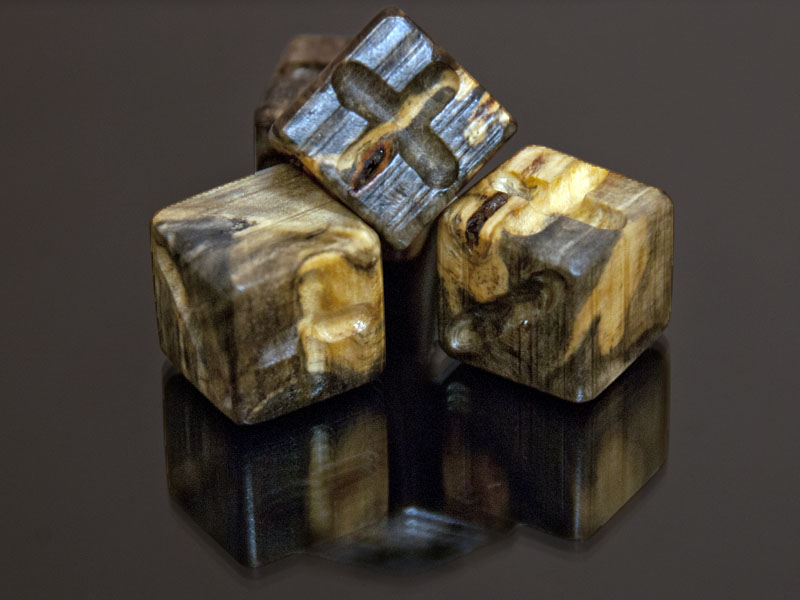 Buckeye Burl Wooden Fate Dice