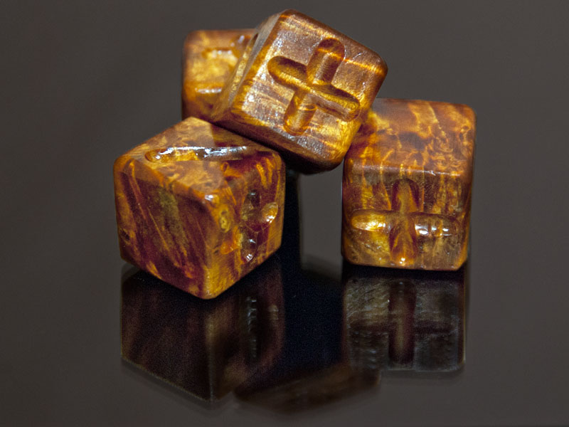 Elder Box Burl Wooden Fate Dice