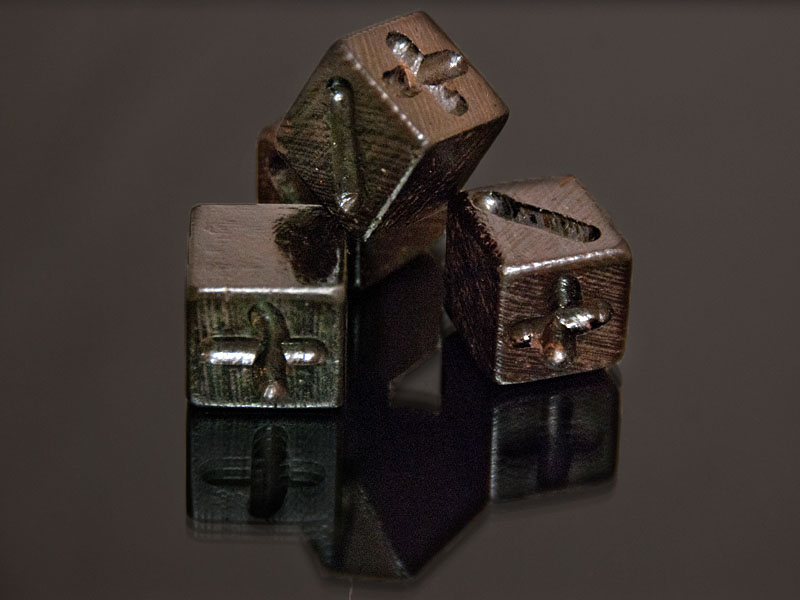 Wenge Wooden Fate Dice