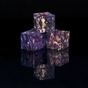 Box Elder Burl Dyed Violet Wooden Six Sided Dice (d6)