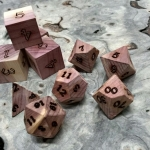 eastern aromatic cedar polyhedral dice