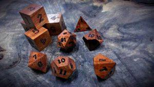 koa polyhedral dice