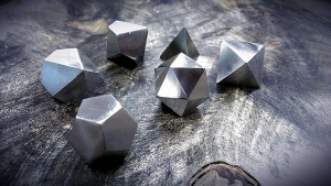 stainles ssteel polyhedral dice
