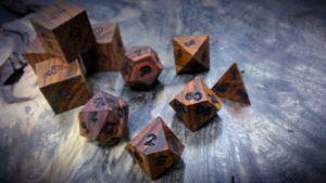 cocobolo polyhedral dice